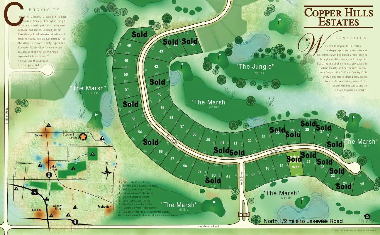 Copper-Hills Real Estate Lot map
