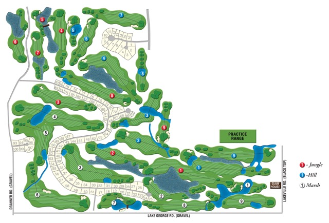 Copper Hills Golf Club Map